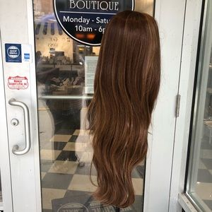 Accessories - Wig lacefront long layers Hairloss brown wig 2018